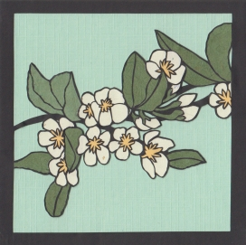 "Apple Blossoms / 2014 / 5""x5"""