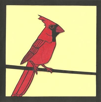 """Cardinal 3 / 2013 / 6""""x6"""""""