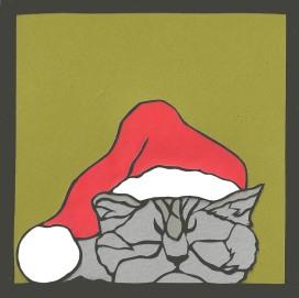 """Grumpy Cat / 2013 / 5""""x5"""""""