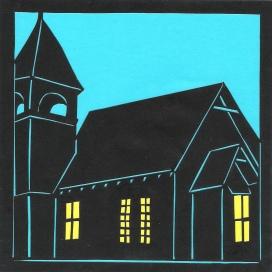"Church 2 / 2011 / 5""x5"" / Sold."