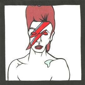 "David Bowie / 2013 / 5""x5"" / Sold."