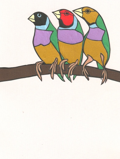 "Finches / 2013 / 5""x7"""
