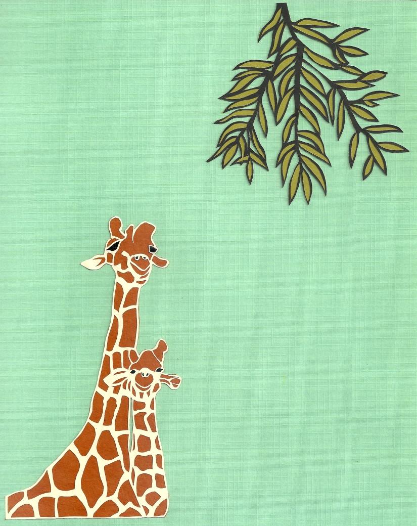 """Giraffes 4 / 2012 / 8""""x10"""""""
