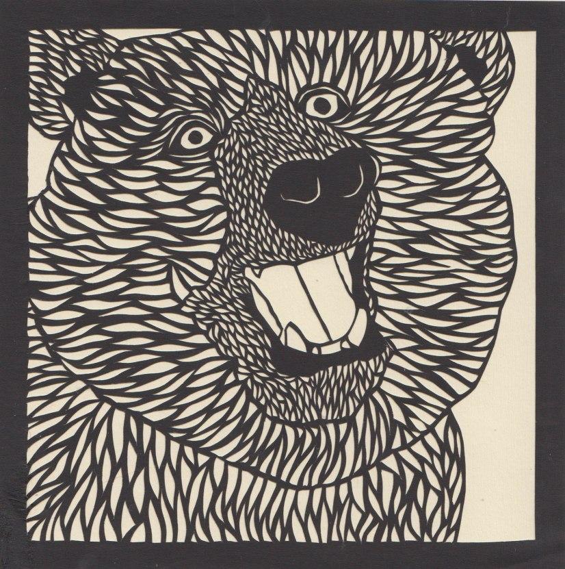 "Grizzly Bear 2 / 2015 / 6""x6"""