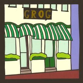 """Grog, Newburyport, MA 2 / 2014 / 6""""x6"""" / Sold."""