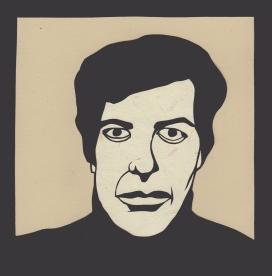 """Leonard Cohen 2 / 2016 / 6""""x6"""""""