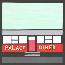 "Palace Diner / 2014 / 6""x6"""