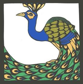 "Peacock / 2013 / 5""x5"""