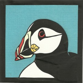 "Puffin 2 / 2012 / 5""x5"" / Sold."