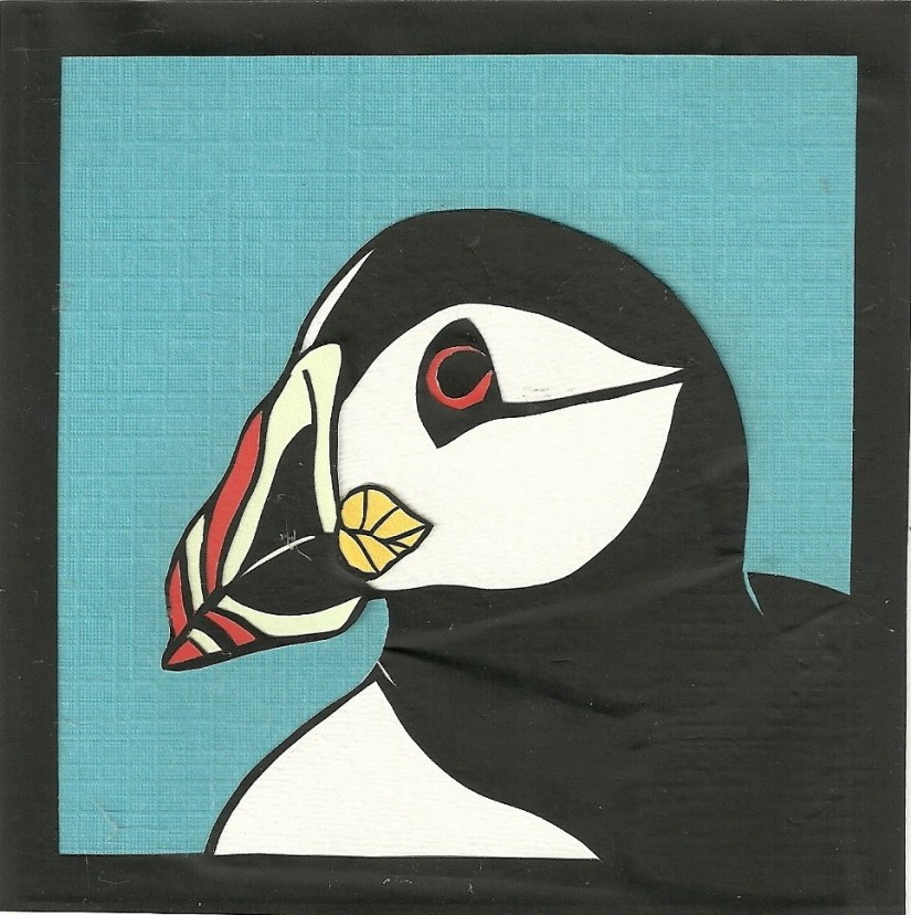 """Puffin 2 / 2012 / 5""""x5"""" / Sold."""