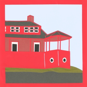 "Red House 6 / 2014 / 6""x6"""