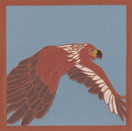 "Red-Tailed Hawk / 2013 / 6""x6"" / Sold."