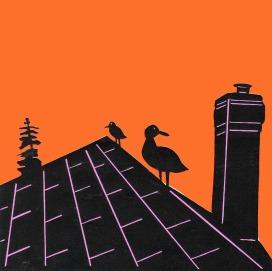 "Island Inn Rooftop / 2011 / 5""x5"" / Sold."