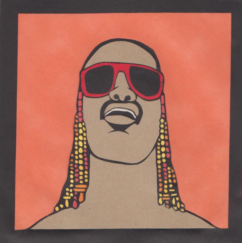 """Stevie Wonder / 2014 / 6""""x6"""""""