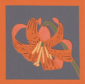 "Tiger Lily / 2014 / 5""x5"" / Sold."