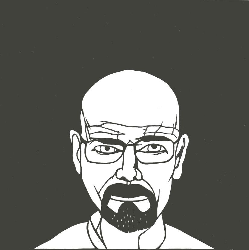 "Walter White / 2013 / 6""x6"" / Sold."