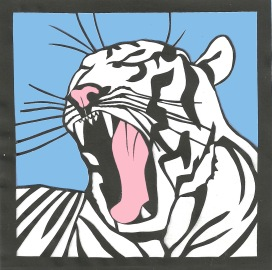 "White Tiger / 2011 / 5""x5"" / Sold."